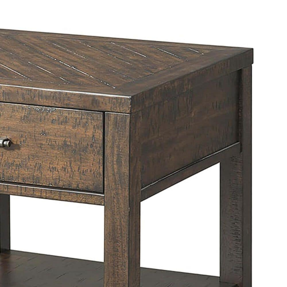 Mayberry Hill Jax End Table with Drawer in Rich Walnut, , large