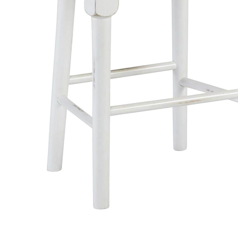 Tiddal Home Shutters Counter Stool in Light Oak and Distressed White, , large