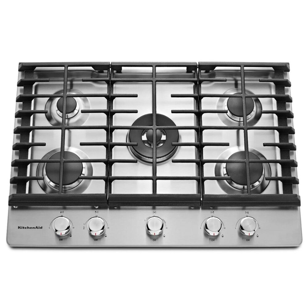 KitchenAid 30'' 5-Burner Gas Cooktop, , large