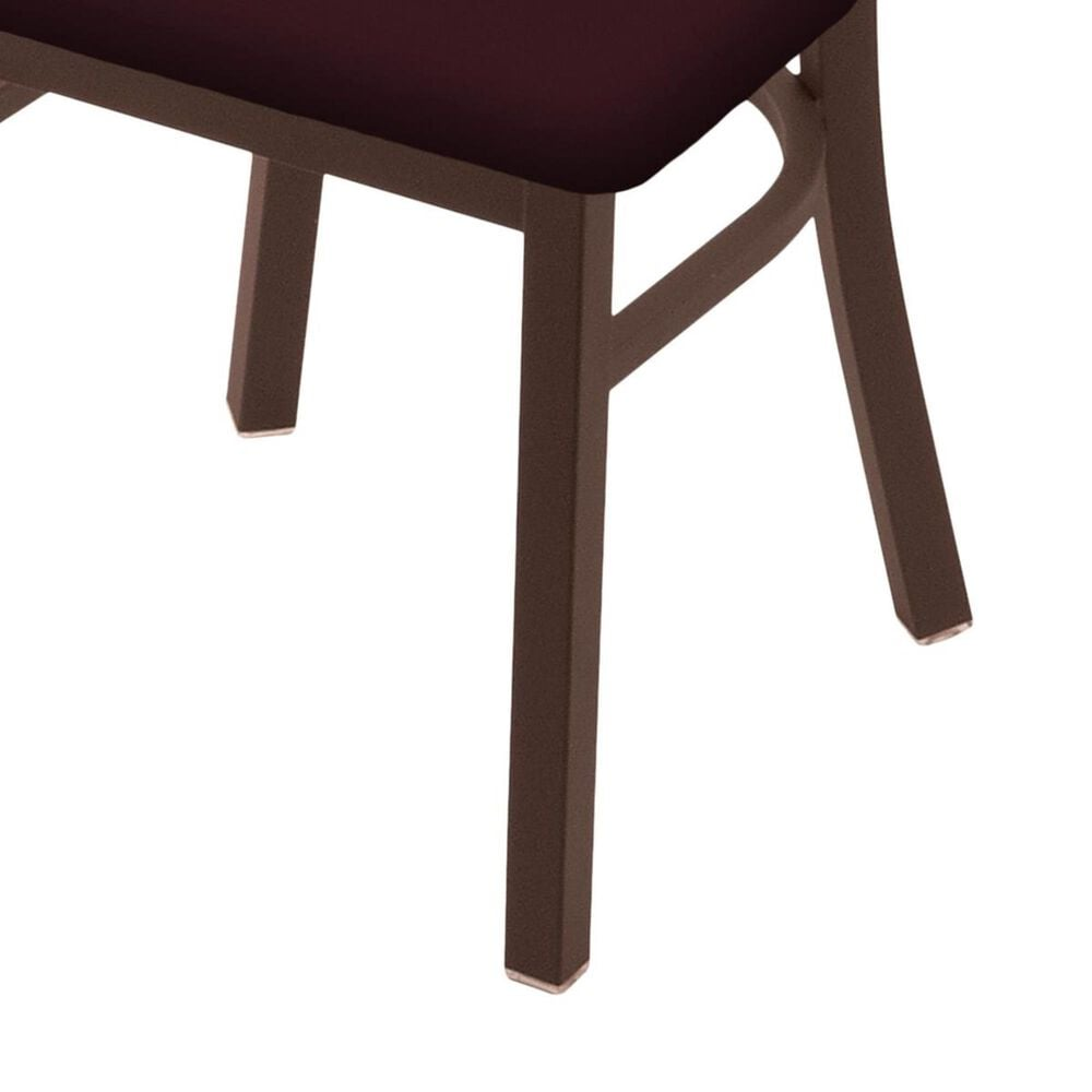 """Holland Bar Stool 620 Catalina 18"""" Chair with Bronze and Canter Bordeaux Seat, , large"""