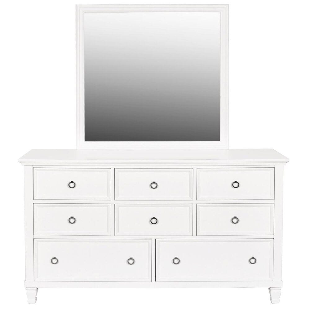 New Heritage Design Tamarack 4 Piece King Bedroom Set in White, , large