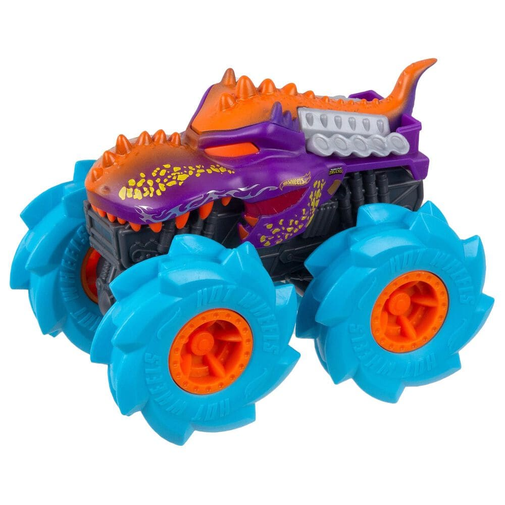 Hot Wheels Monster Trucks Twisted Tredz Mega Wrex Vehicle in Purple, , large