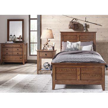 Belle Furnishings Grandpa's Cabin 3 Piece Full Panel Bed Set in Aged Oak, , large