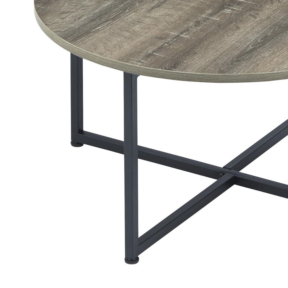 Signature Design by Ashley Wadeworth 3-Piece Occasional Table Set in Weathered Wood and Black, , large