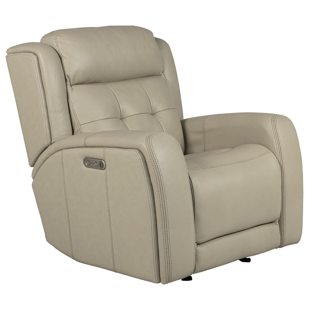 Flexsteel Grant Gliding Power Recliner with Power Headrest in Bisque, , large