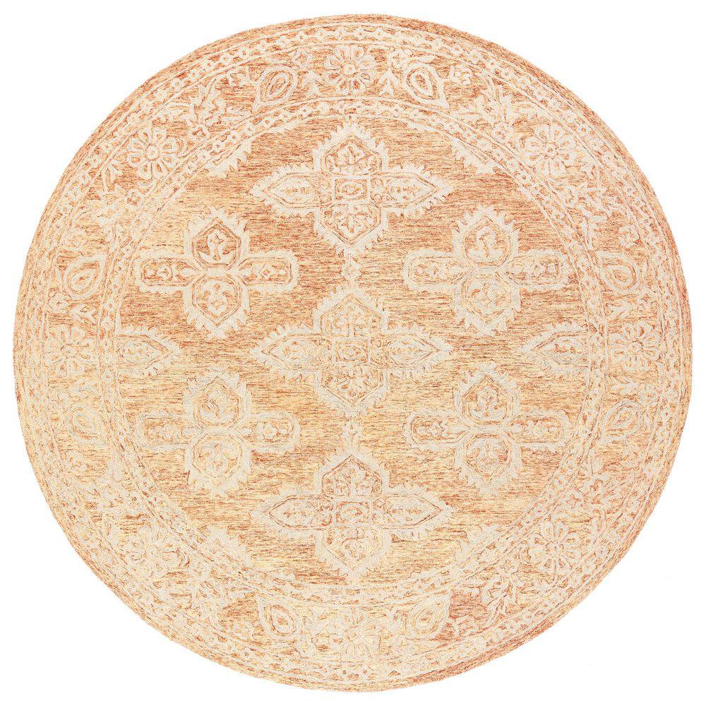 Surya Granada GND-2301 6' Round Rust, Peach and Khaki Area Rug, , large