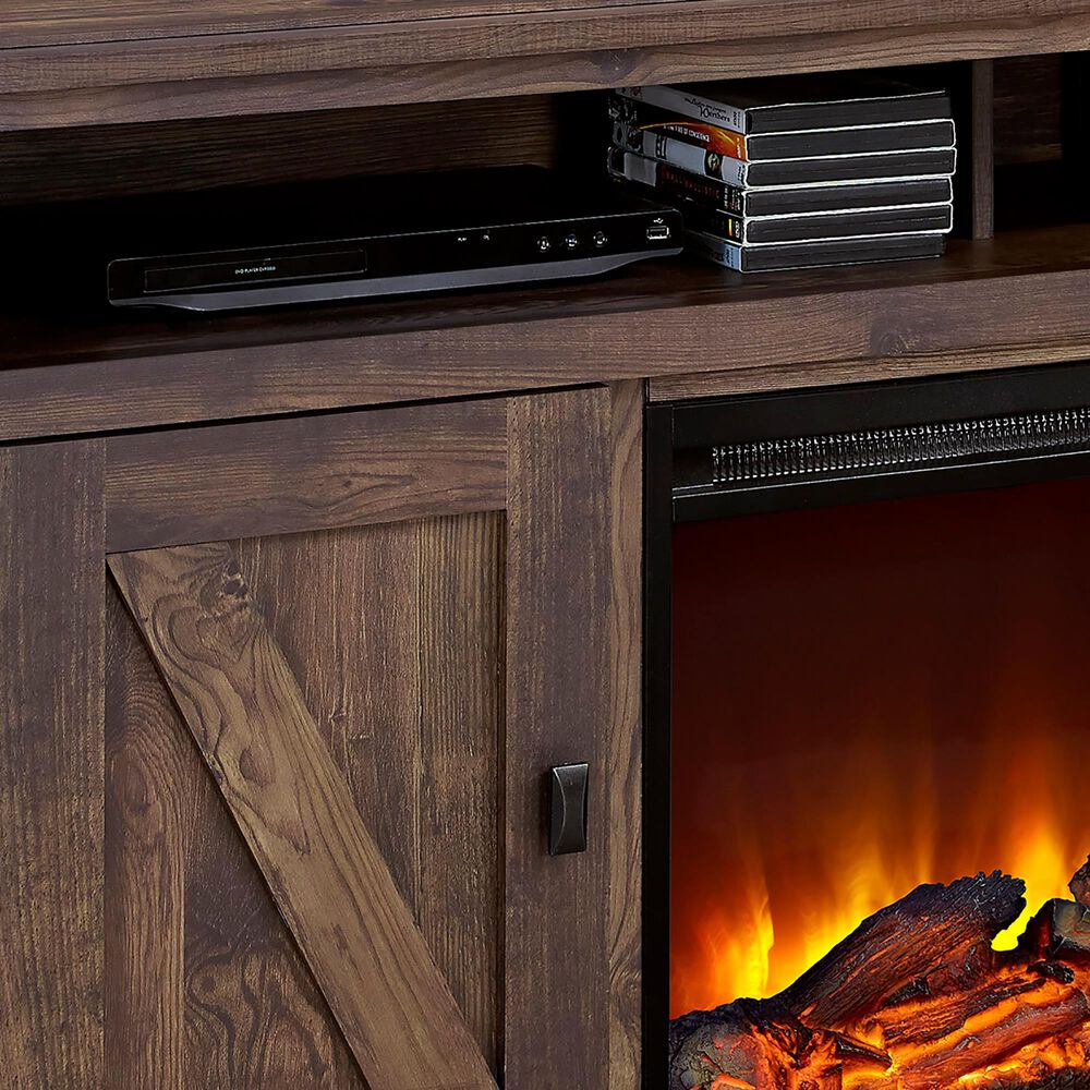 """DHP Farmington 60"""" TV Console with Fireplace in Century Barn Pine, , large"""