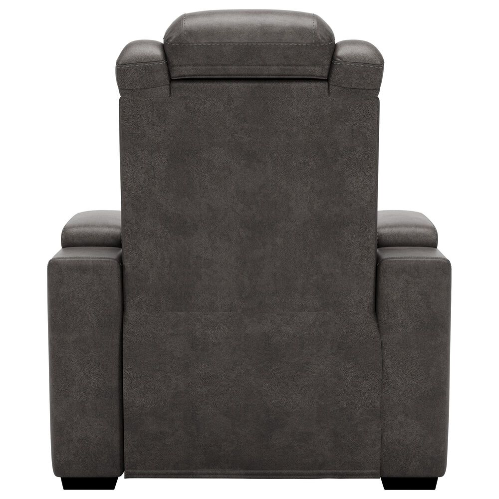 Signature Design by Ashley HyllMont Power Recliner with Power Headrest in Gray, , large
