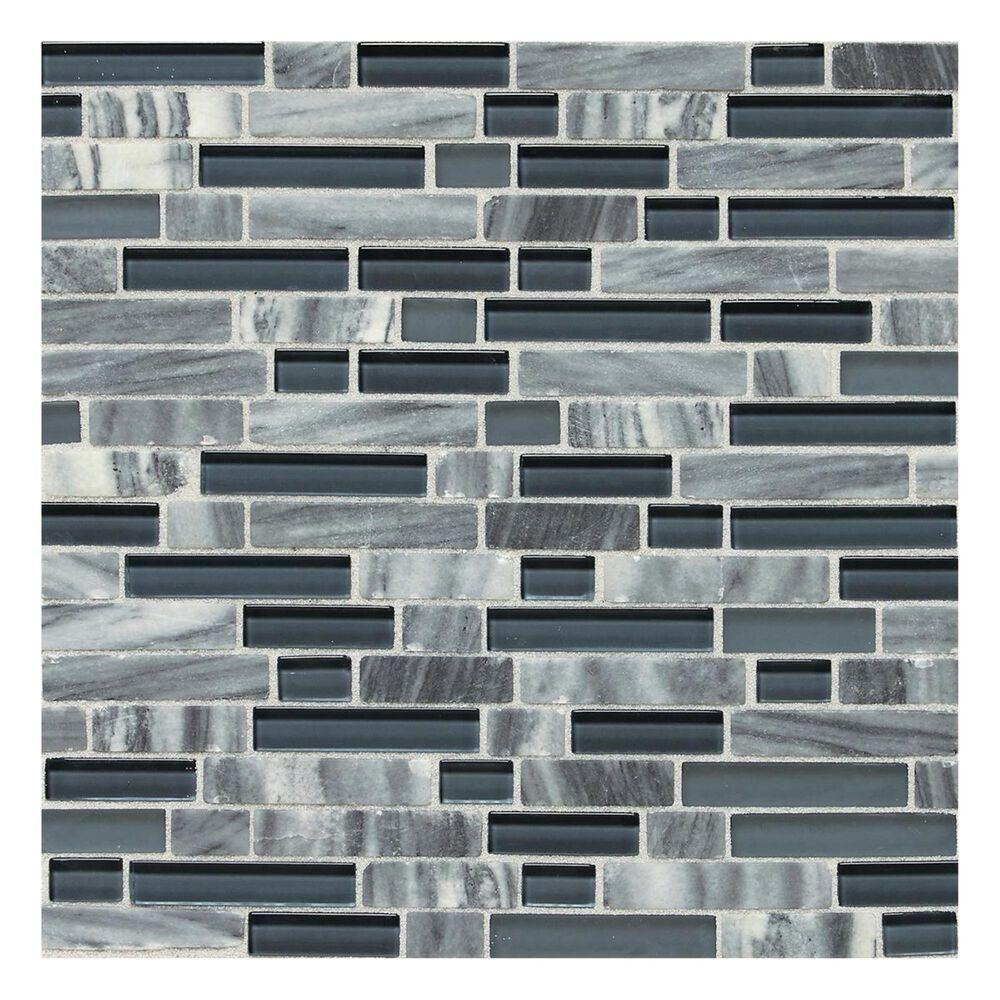 Dal-Tile Stone Radiance Random Size Mosaic Tile in Glacier Gray Marble, , large