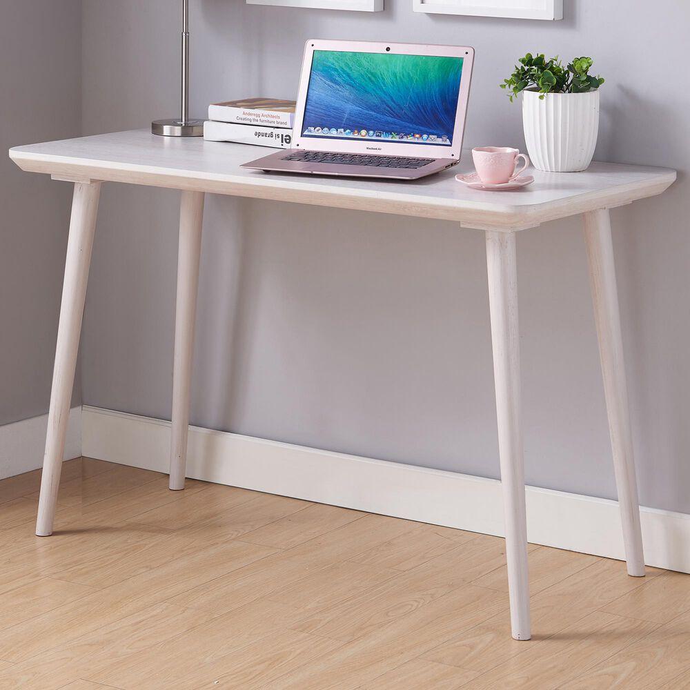 Furniture of America Mckenzie Writing Desk in White Oak, , large