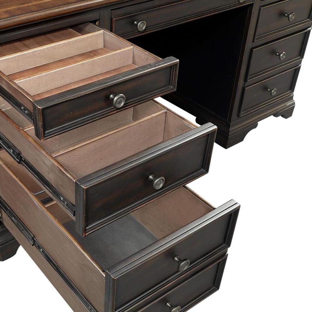 "Riva Ridge Hampton 66"" Executive Desk in Black Cherry, , large"