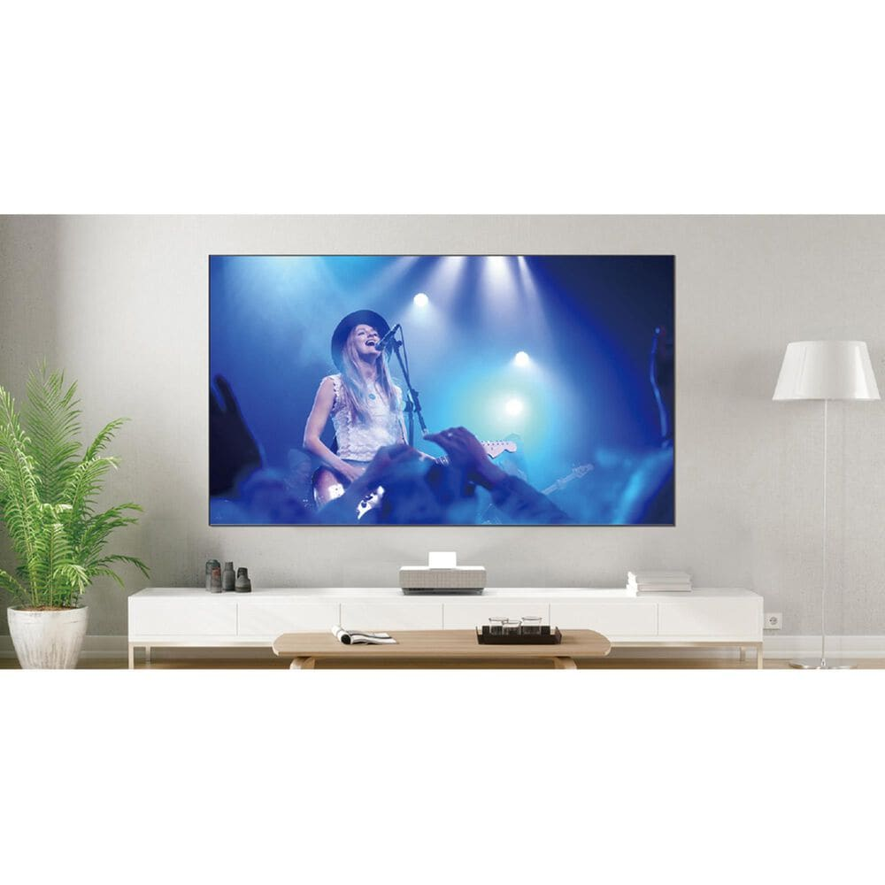 """Epson LS500 Laser Projection TV in White with 100"""" Screen, , large"""