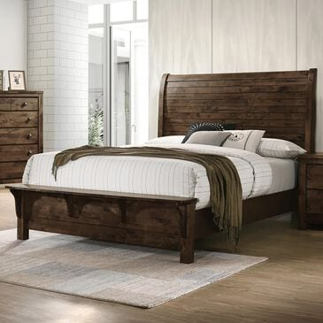 New Heritage Design Blue Ridge Queen Bed in Rustic Gray, , large