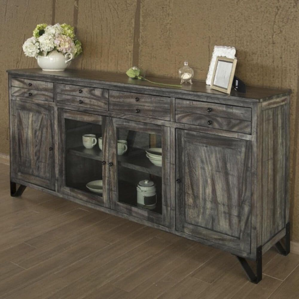 """Fallridge Moro 80"""" TV Stand with 4-Drawer and 4-Door in Warm Gray, , large"""