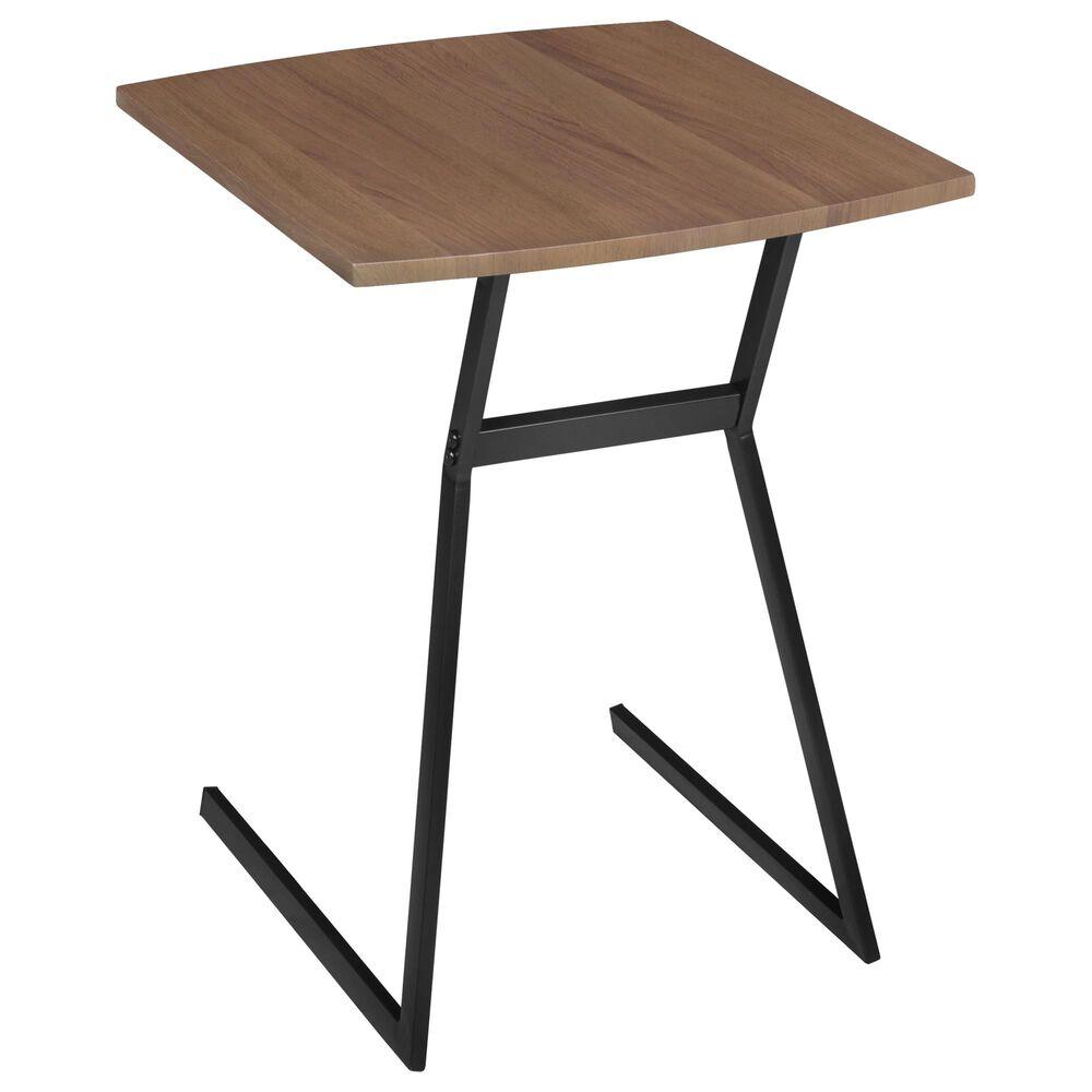 Regency Global Sourcing Niche Soho Side Table in Urban Walnut and Black, , large
