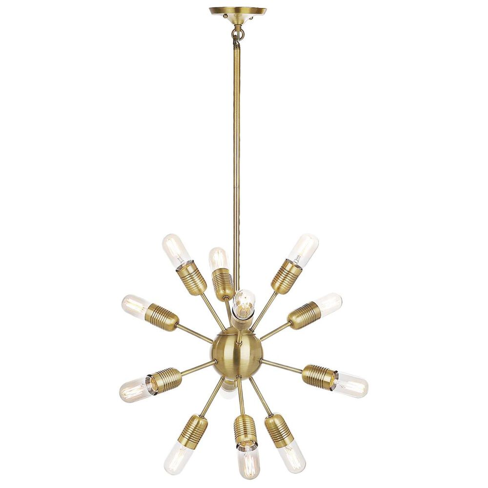 "Safavieh Raging 17.5"" 12-Light Solace Pendant in Gold, , large"