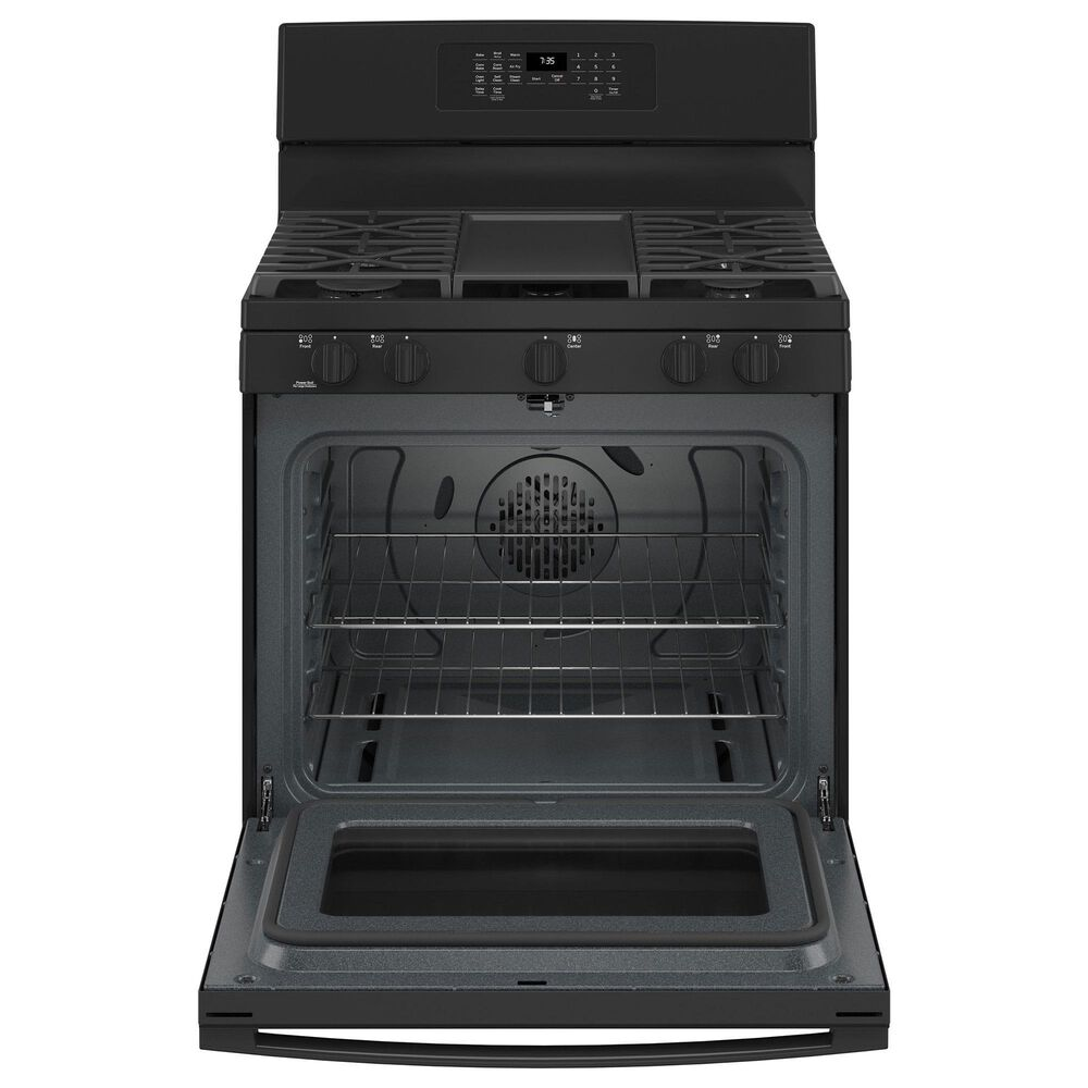 GE Appliances 2-Piece Kitchen Package with 30'' Gas Range and 1.9 Cu. Ft. Microwave Oven in Black, , large