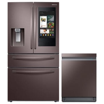 Samsung 2-Piece Kitchen Package with 28 Cu. Ft. French Door Refrigerator with Linear Wash Dishwasher in Tuscan Stainless Steel, , large