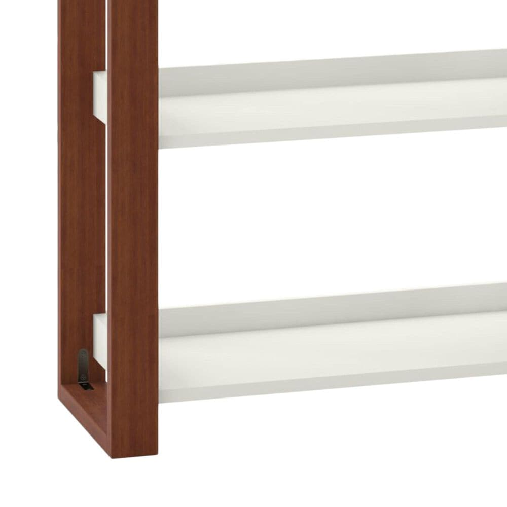 Bush Voss Console Table with Shelves in Cotton White, , large