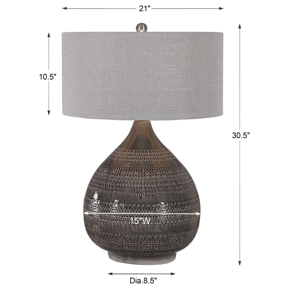 Uttermost Batova Table Lamp in Taupe Gray, , large