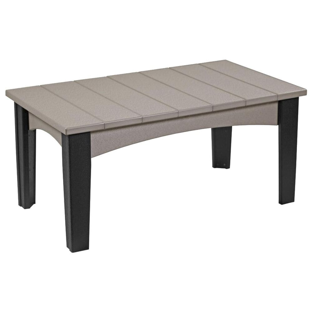 Amish Orchard Island Coffee Table in Weatherwood and Black, , large