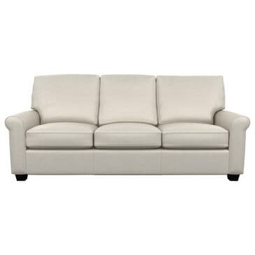American Leather Savoy Leather Sofa in Bison White, , large