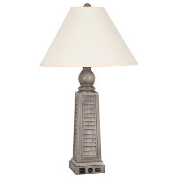 "Lamps Per Se 30"" USB Table Lamp in Medium Gray, , large"