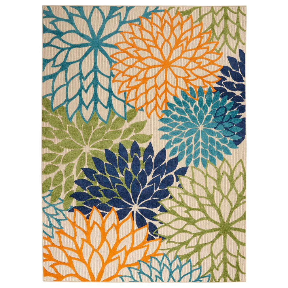 """Nourison Aloha ALH05 9'6"""" x 13' Multicolor Indoor/Outdoor Rug, , large"""