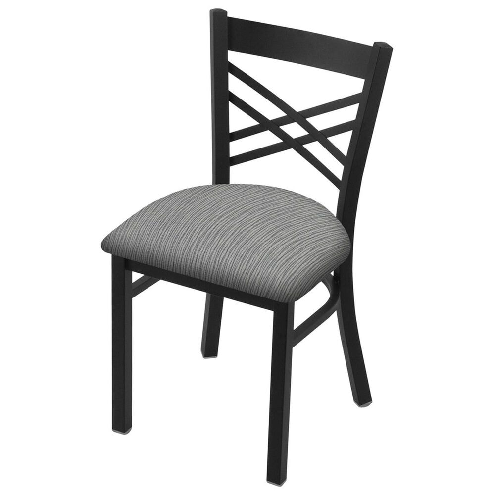 """Holland Bar Stool 620 Catalina 18"""" Chair with Black Wrinkle and Graph Alpine Seat, , large"""