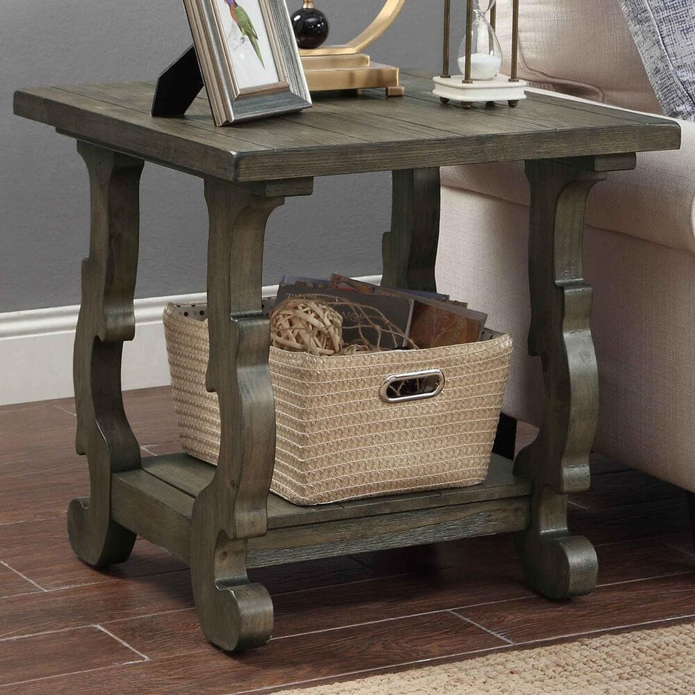 Shell Island Furniture Orchard Park End Table in Orchard Brown, , large