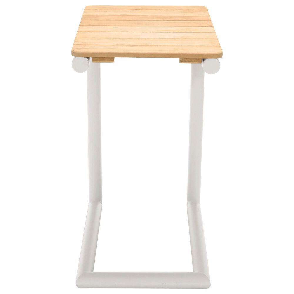 Blue River Portals Patio Side Table in Light Sand/Teak, , large