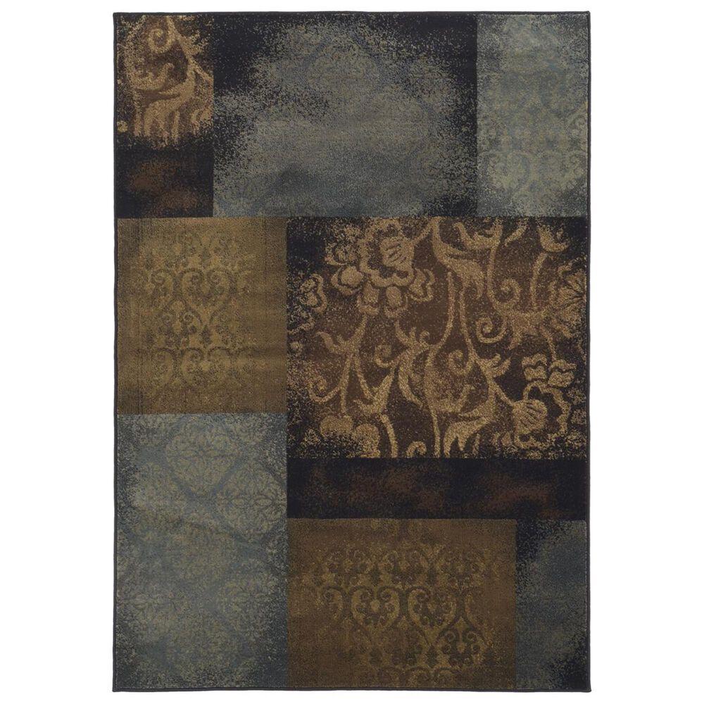 "Oriental Weavers Hudson 4878B 10"" x 13"" Blue Area Rug, , large"