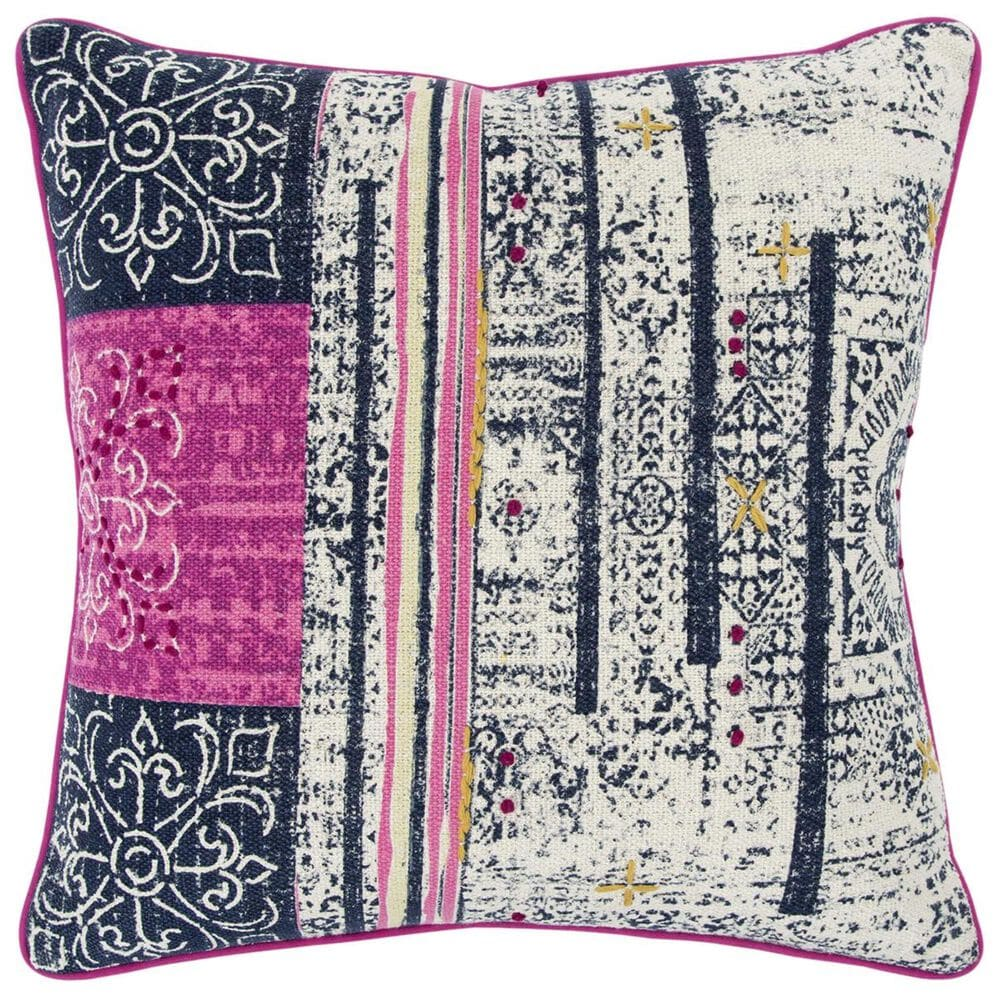 """Rizzy Home Donny Osmond 20"""" x 20"""" Pillow Cover in Pink and Gray, , large"""