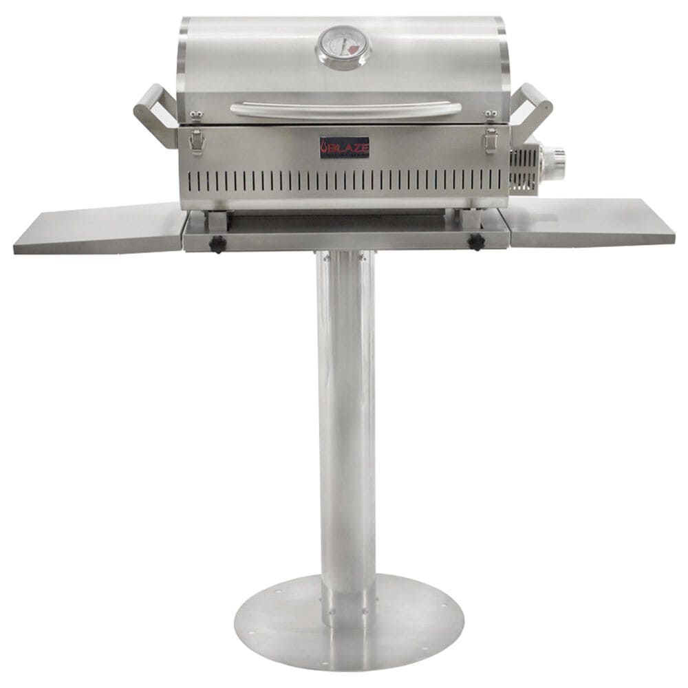 """Blaze 17"""" Pedestal Portable Grill in Stainless Steel, , large"""