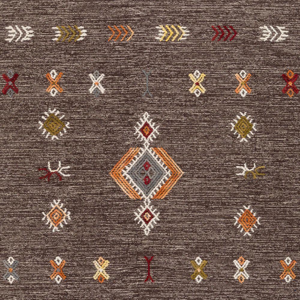 Surya Zanafi ZNF-2304 3' x 5' Brown, Orange and Red Area Rug, , large