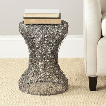 Safavieh Fox Zig Zag Woven Stool in Antique Zinc, , large