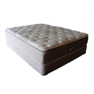 Omaha Bedding Berkshire Legacy Gel Pillow Top Plush Queen Mattress with High Profile Box Spring, , large
