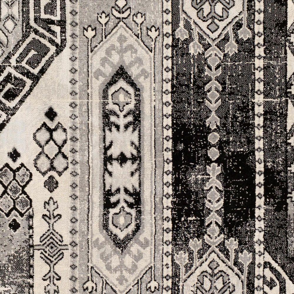 "Surya Monaco MOC-2325 6'9"" x 9'9"" Black and Silver Gray Area Rug, , large"