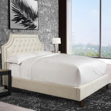 Simeon Collection Jasmine King Upholstered Bed in Champagne, , large