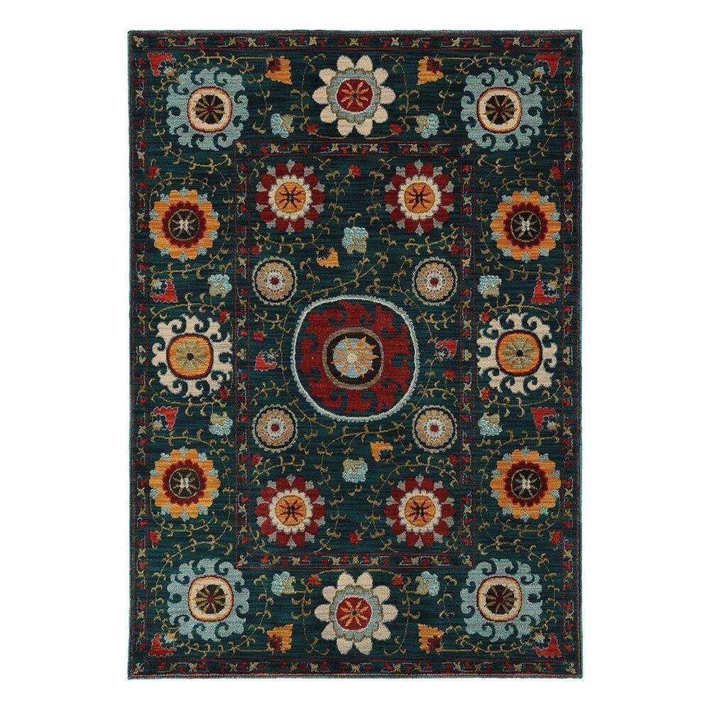 """Oriental Weavers Sedona 6408B 5'3"""" x 7'6"""" Blue Area Rug, , large"""
