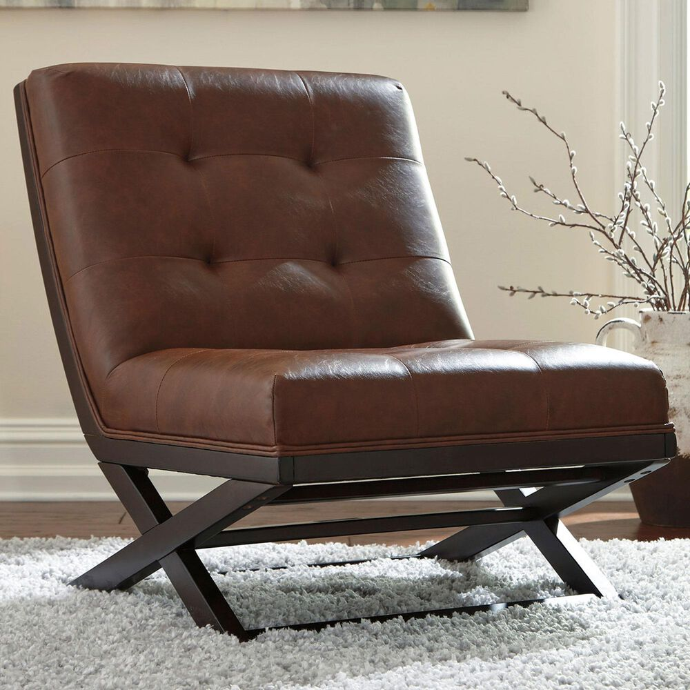 Signature Design by Ashley Sidewinder Accent Chair in Brown, , large