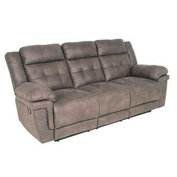 Crystal City Anastasia Dual Reclining Sofa in Gray, , large