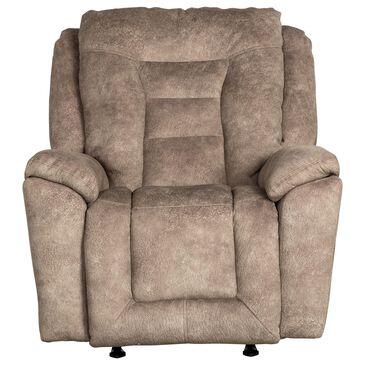 Southern Motion Grid Iron Power Rocker Recliner with Power Headrest in Mushroom, , large