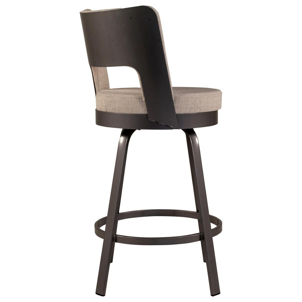 Amisco Brock Swivel Counter Stool in Marshmallow, , large