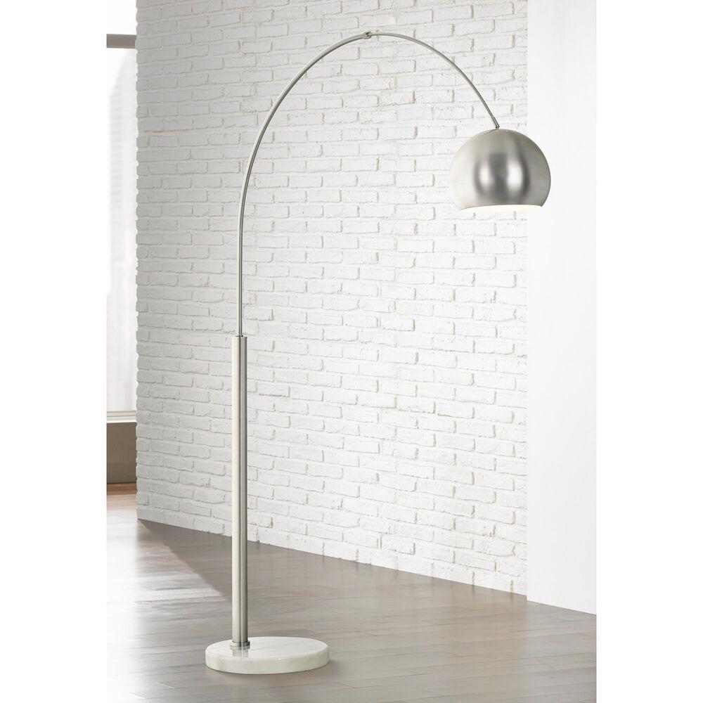 Pacific Coast Lighting Basque Floor Arc Lamp Floor Arc Lamp in Brushed Nickel and Brushed Steel, , large