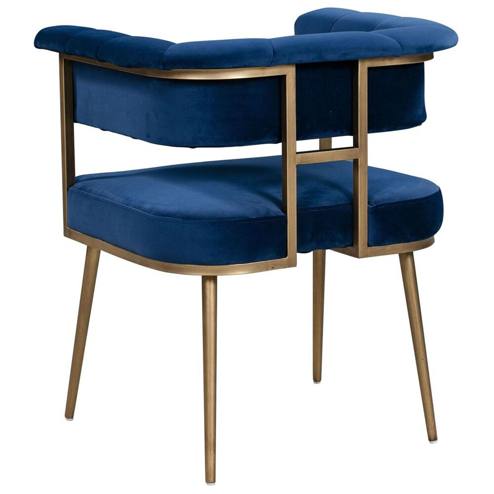 Tov Furniture Astrid Velvet Arm Chair in Navy, , large