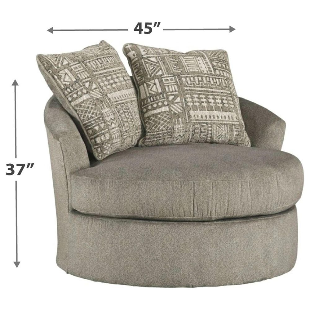 Signature Design by Ashley Soletren Swivel Accent Chair in Ash, , large