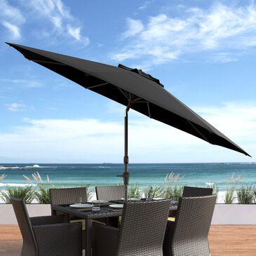 CorLiving 10' UV & Wind Resistant Patio Umbrella in Black, , large
