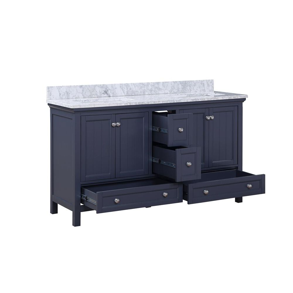 """Aurafina Cunningham 60"""" Vanity with Top and 2 Sinks in Harbor Blue, , large"""