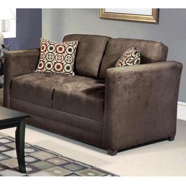 Hughes Furniture Loveseat in Sienna Chocolate, , large